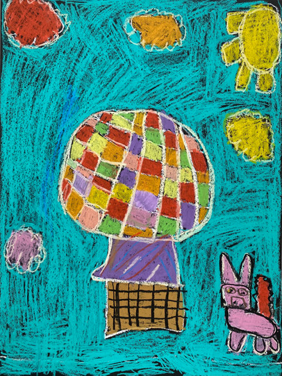A Hot Air Balloon in the Spring by Emily
