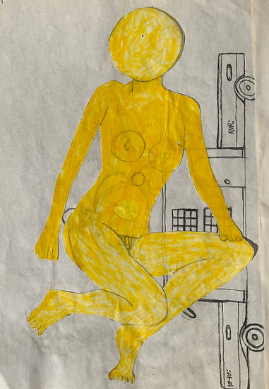 """Nude with Car"" by David Sulak Original Art"