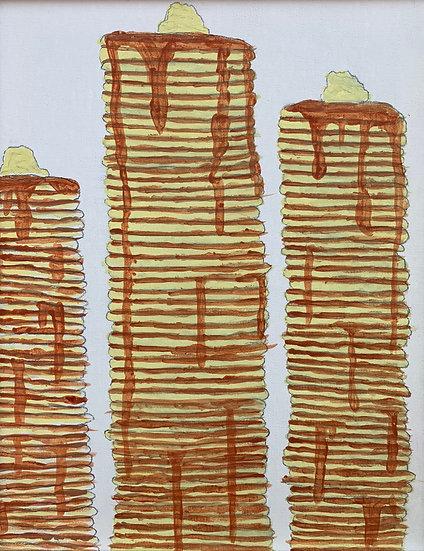 """Tower of Pancakes"" by Elijah Giorgi Fine Art Print"