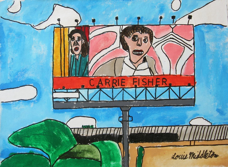"""""""Carrie Fisher"""" by Louis Middleton"""