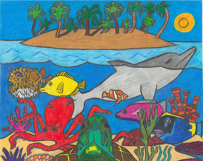 """Underwater Life"" by Zachary Robey Original Art"
