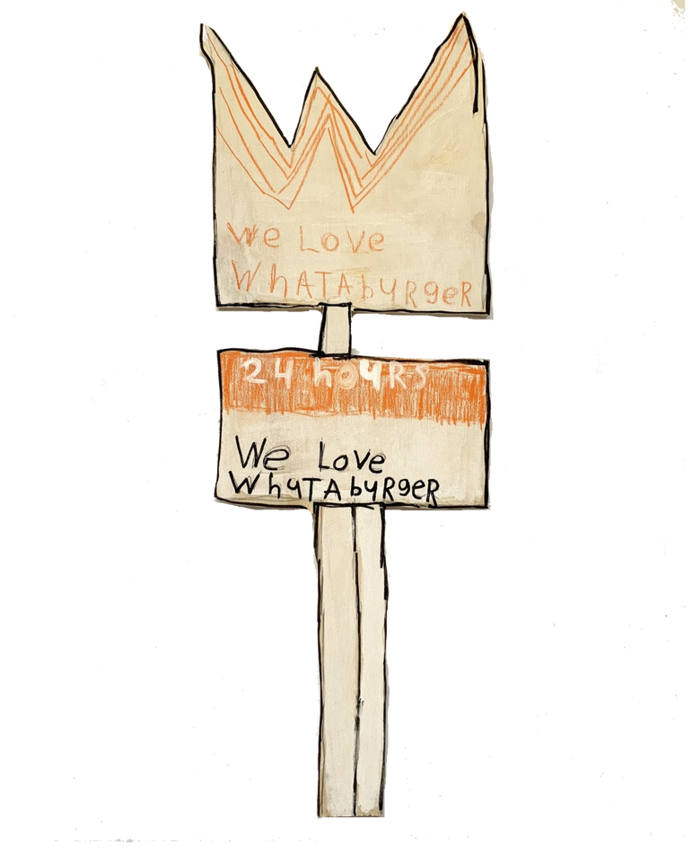 Whataburger Sign by Rick Fleming
