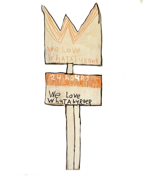 Whataburger Sign by Rick Fleming