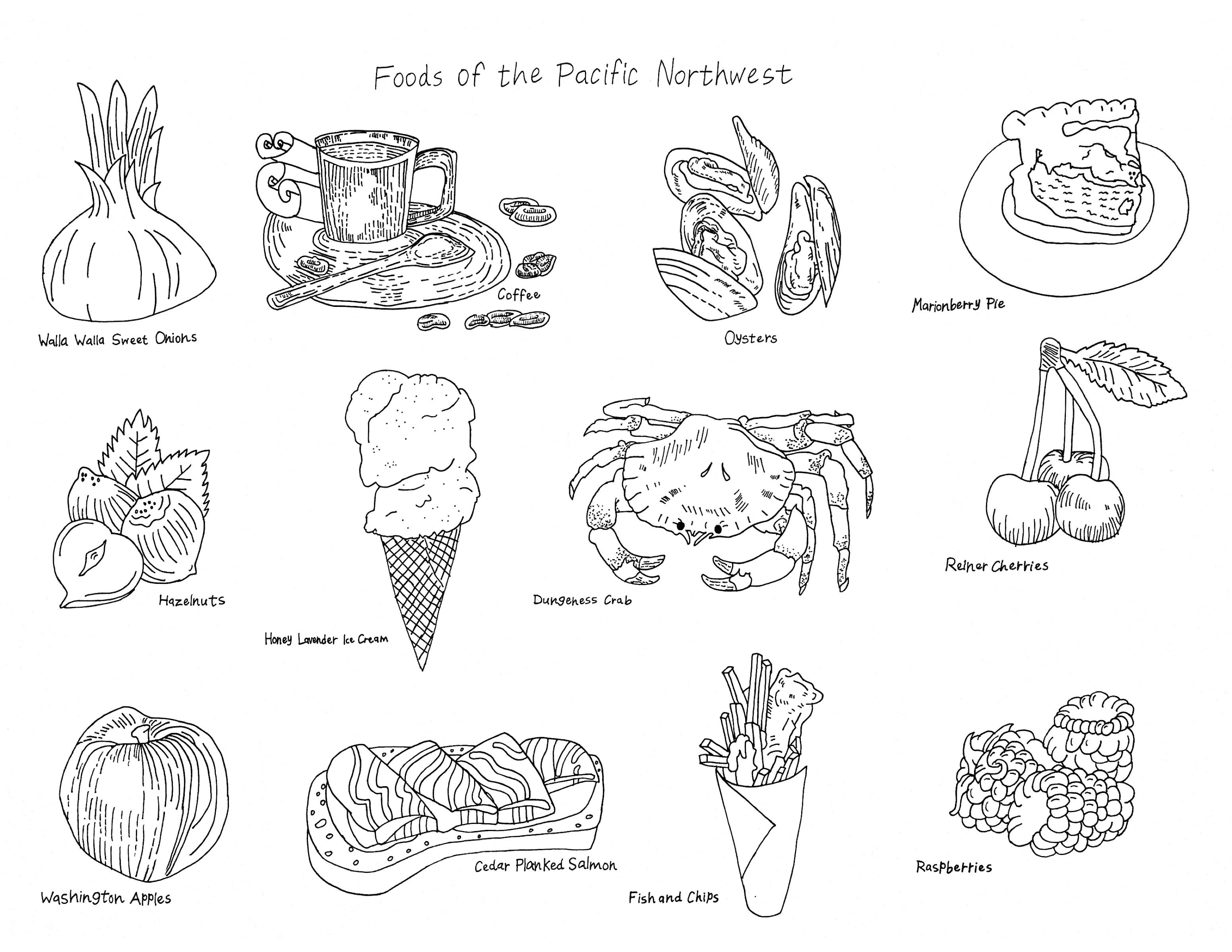 """""""Foods of the Pacific Northwest"""""""