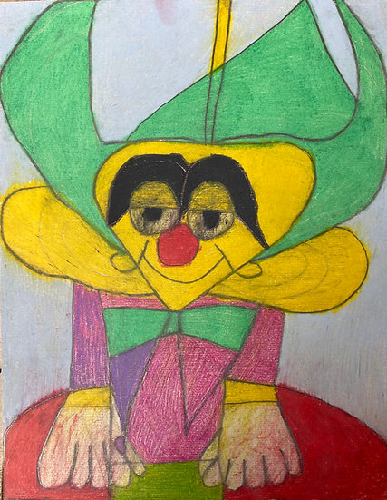 """""""Krusty the Clown"""" by Anthony Coleman"""