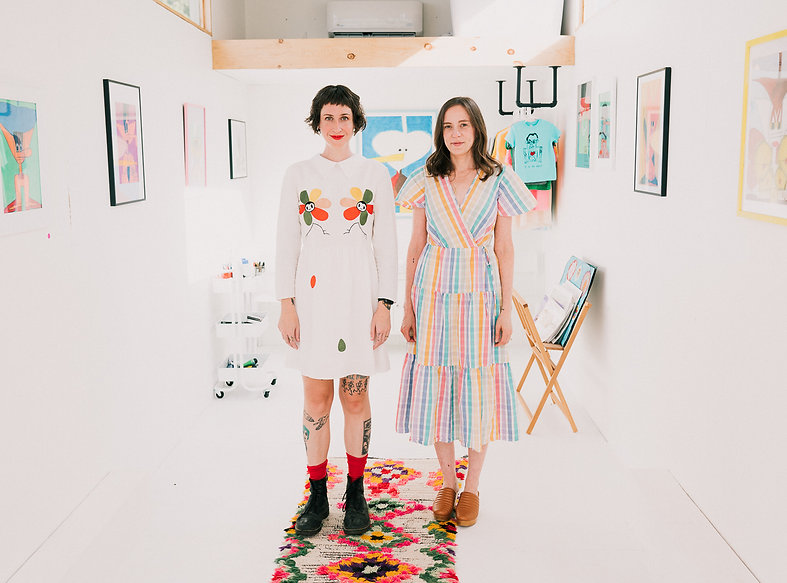 Lucy Gross and Katie Stahl (Photo credit Chelsea Francis)