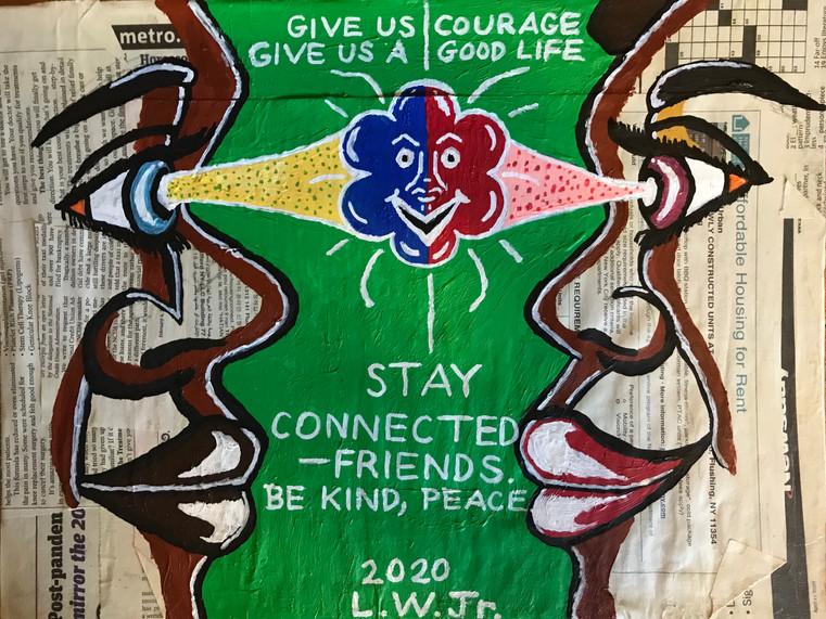 Connect to Friends Social Distance by La