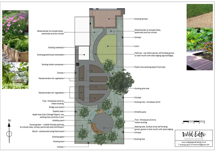 Concept Plan, Wildlife Garden Design Che