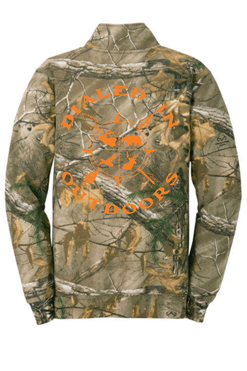 Dialed in Outdoors Camo Qtr Zip w/ Orange Imprint
