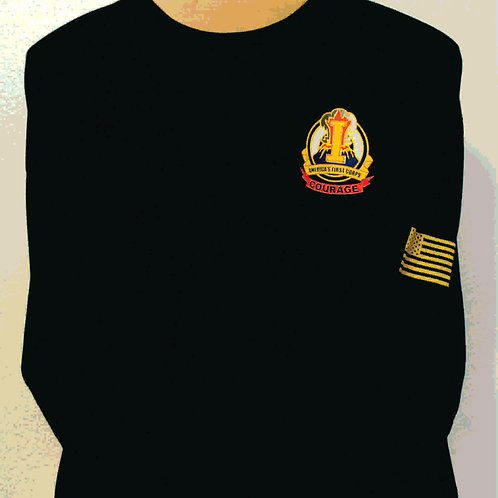 1st Corp Moisture wicking Long sleeve w/ call sign