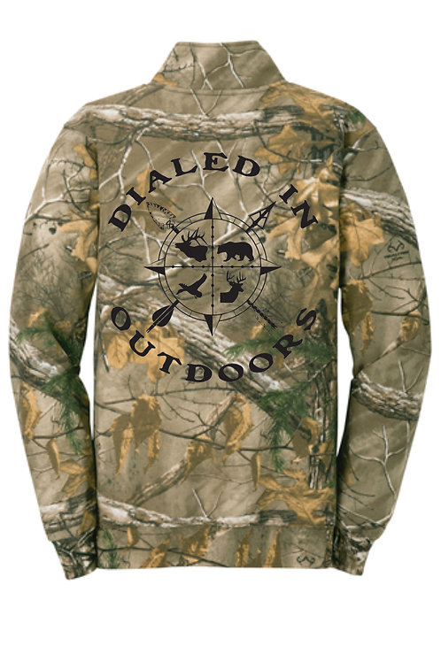 Dialed in Outdoors Camo Qtr Zip w/ Black Imprint
