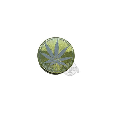 Triturador/Dichavador de Metal Grass Leaf Mini