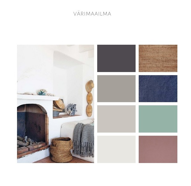 Värisuunnitelman avulla on helppo luoda kotiin yhtenäinen sisustus.