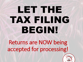 LET THE TAX FILING BEGIN!