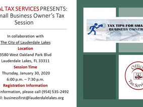 FREE WORKSHOP! In Collaboration with The City of Lauderdale Lakes.