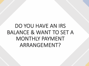 IGNORING THE IRS WILL COST YOU MONEY