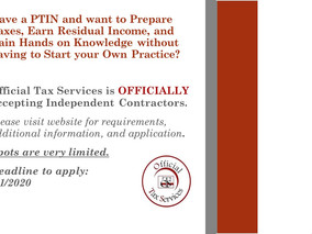BECOME AN INDEPENDENT CONTRACTOR TODAY!