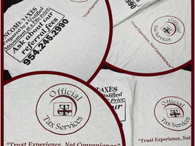 Official Tax Services T-shirts now available!