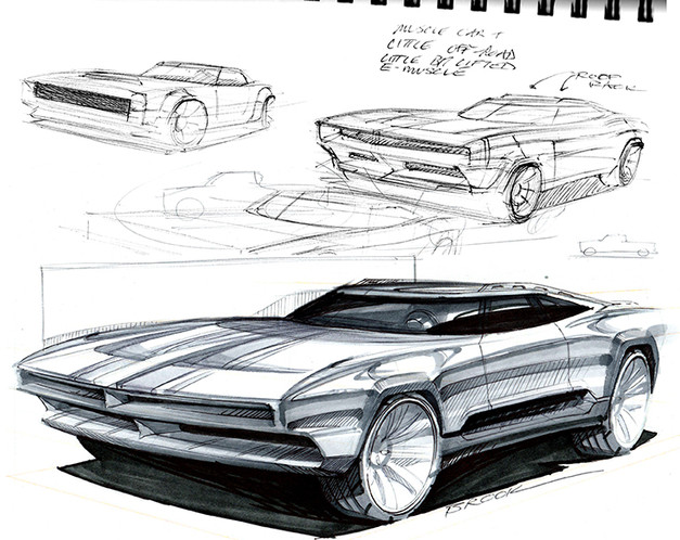 SMALL demo sketch muscle gt car