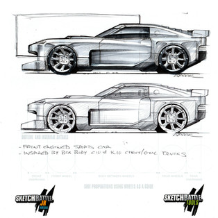 Square body sports car pen