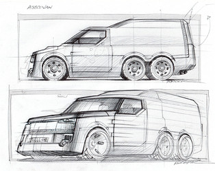 Small van sketch