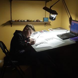 Ryan Hard at Work