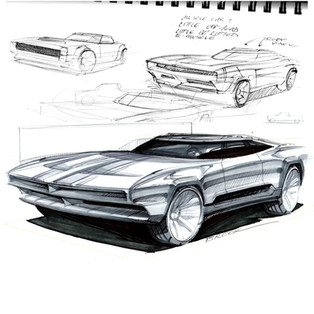 Demo sketch muscle gt car