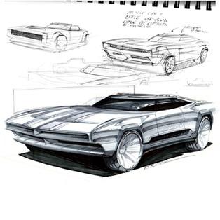 Demo sketch muscle gt car