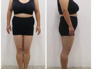 ダイエットコースN様(40代)の経過報告と健康診断の結果Before→After