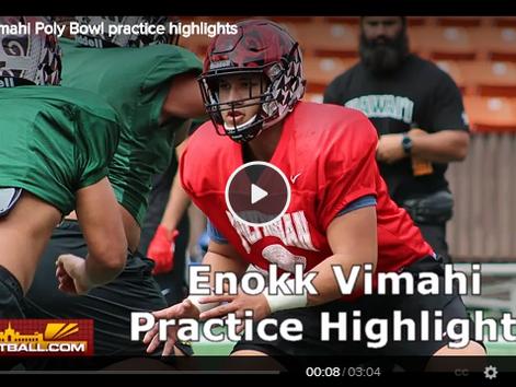 USC OL target @enokkvimahi 's Polynesian Bowl practice highlights #PolyBowl2k19