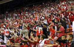 The sea of red is back in the championship again this year. Jamm Aquino-Star-Advertiser