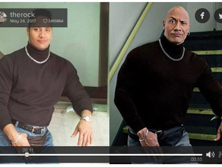 Dwayne 'The Rock' Johnson And His Stunt Double Cousin Look Uncannily Alike