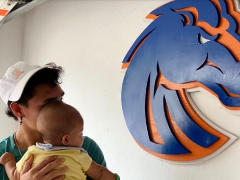 Before college football, Boise State commit Kaonohi Kaniho tackles fatherhood