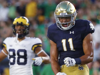 Notre Dame safety @alohigilman eager to go against former Navy teammates