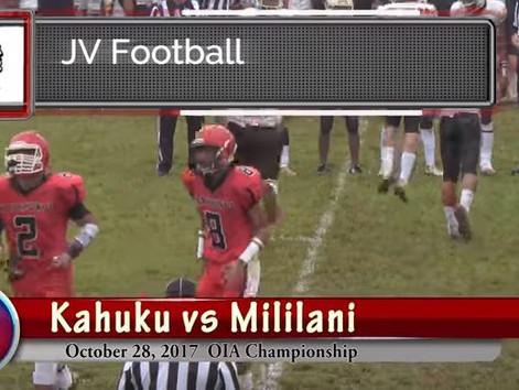 JV Kahuku vs Mililani OIA Final 4K