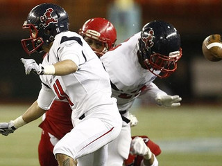 Kahuku's great red wall stands tall