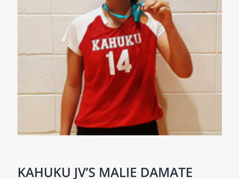 JV X-Factor Player of the Game: Malie Damate