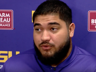 @breidenfehoko4 says LSU's offense making the defense look bad this spring #StraightFromTheBush