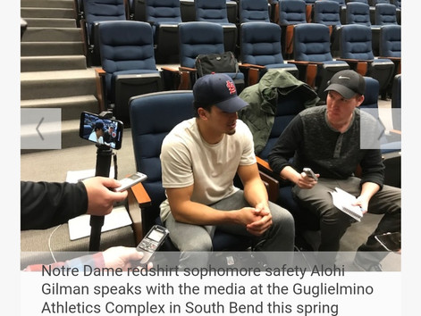 New Notre Dame safety Alohi Gilman has 'it' and he'll impact the Irish defense in 2018 greatly