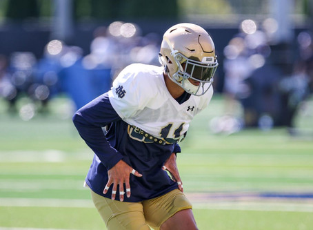 Noie: Notre Dame free safety Alohi Gilman's a go after sitting out spring