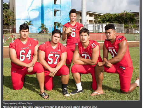 MaxPreps 2017 Hawaii preseason high school football Fab 5, presented by the Army National Guard