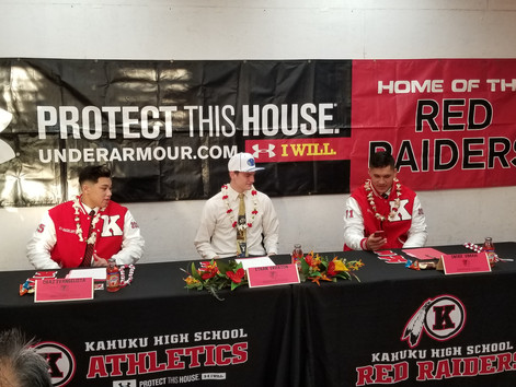 Unconventional NLI signing day @ Kahuku