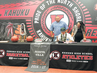 UH basketball signs Kahuku's Villa