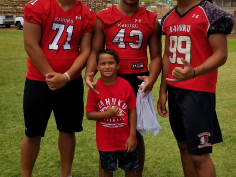 The kids had a blast @ the 2018 Red Raider in training clinic [especially Benson]