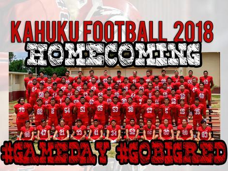 Kahuku Football 2018. #Homecoming #GAMEDAY #GoBigRed