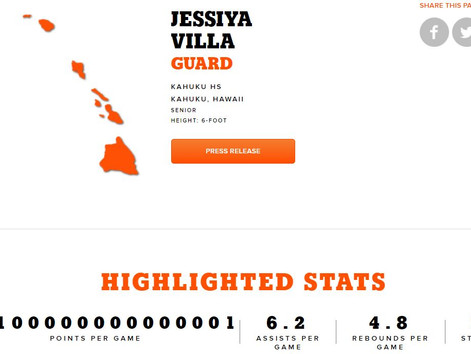Jessiya Villa - Gatorade Hawaii Boys Basketball Player of the Year