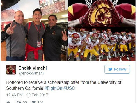 RECRUITING: USC, UW hand out offers