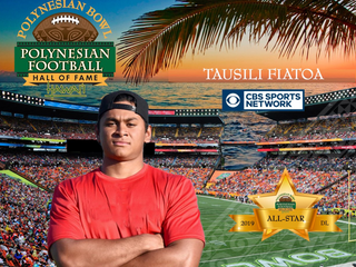 Congrats Tausili! You're in the midst of a monster season! Keep it up young man! #PolynesianBowl