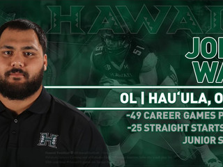 Mahalo @unkojohn for representing #BigRed with such class, dedication, and perserverance! [Full Spec