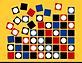 Georg Toth Design Hypno Dots Background Orange